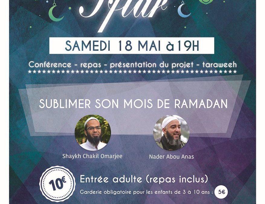 Samedi 18 mai 2019: 1er Iftar solidaire